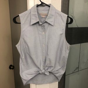 JCREW DENIM BUTTON UP COLLARED SHIRT